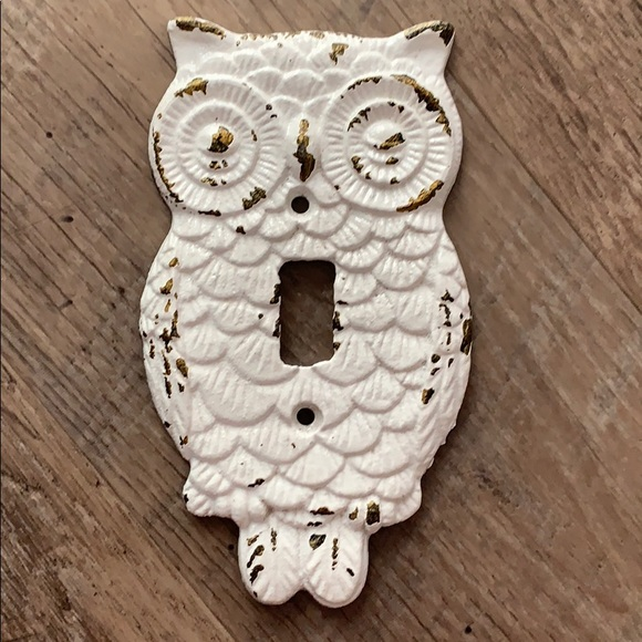 Cast Iron Distressed Owl 🦉 Switch-plate Cover